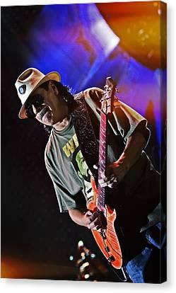 Carlos Santana On Guitar 7 Canvas Print by Jennifer Rondinelli Reilly - Fine Art Photography