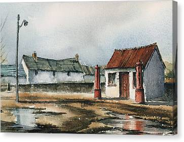Carlow Petrol Pumps At The Fighting Cocks Canvas Print