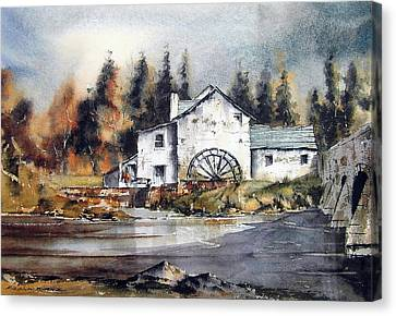 Carlow Rathvilly Mill Canvas Print by Val Byrne