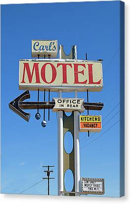 Carl's Motel Canvas Print by Charlette Miller