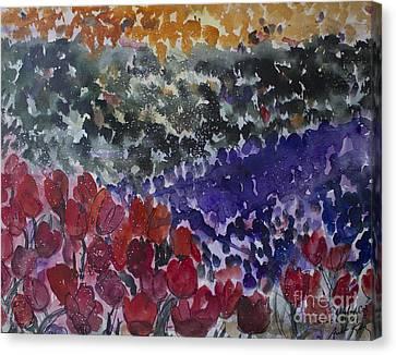 Carlsbad Flower Fields #4 Canvas Print by Avonelle Kelsey