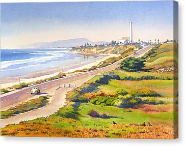 Power Canvas Print - Carlsbad Rt 101 by Mary Helmreich
