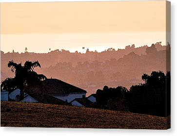 Canvas Print featuring the digital art Carlsbad Sunset by Kirt Tisdale