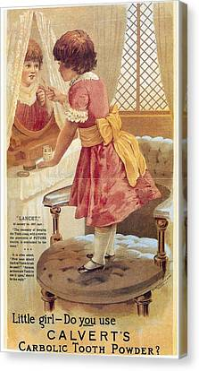 Canvas Print featuring the photograph Carlvert's Carbolic Tooth Powder Ad by Gianfranco Weiss