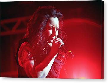 Carly And The Concert Lighting Canvas Print by Shoal Hollingsworth