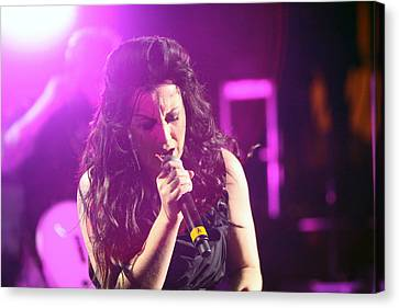 Carly On Stage Canvas Print by Shoal Hollingsworth