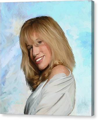 Carly Simon Canvas Print by G Cannon