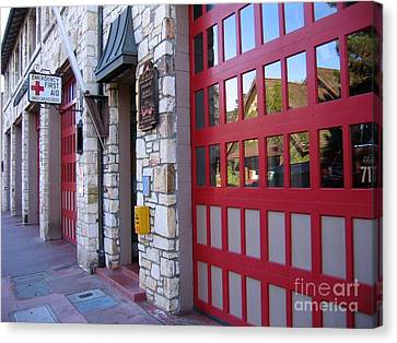 Carmel By The Sea Fire Station Canvas Print by James B Toy