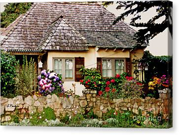 Carmel English Cottage Canvas Print by Linda  Parker