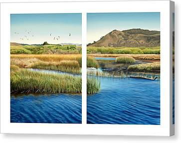 Carmel Lagoon Canvas Print by Logan Parsons