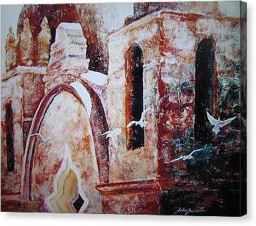 Carmel Mission Canvas Print by John  Svenson