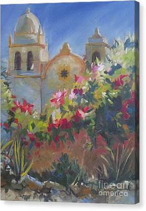 Carmel Mission Canvas Print by Mary Hubley