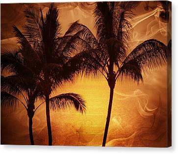 Carmel Sunset Canvas Print by Athala Carole Bruckner