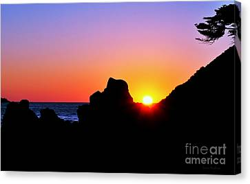 Carmel Sunset Canvas Print by Susan Wiedmann
