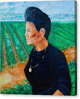 Canvas Print featuring the painting Carmela by Giovanni Caputo