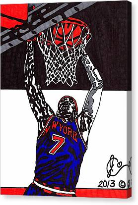 Carmelo Anthony Canvas Print by Jeremiah Colley