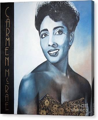 Carmen Mcrae Canvas Print by Chelle Brantley
