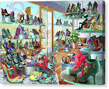 Carnaby Shoe Shop Canvas Print by Adrian Chesterman