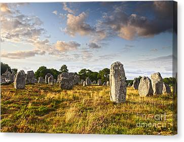 Carnac Alignments Brittany France Canvas Print by Colin and Linda McKie