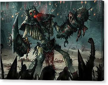 Carnage Gladiator Canvas Print by Ryan Barger