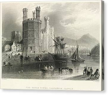 Carnarvon Castle Canvas Print by British Library