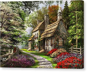 Pathway Canvas Print - Carnation Cottage by Dominic Davison