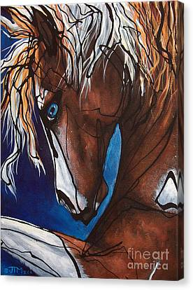 Forelock Canvas Print - Carnaval Ride by Jonelle T McCoy
