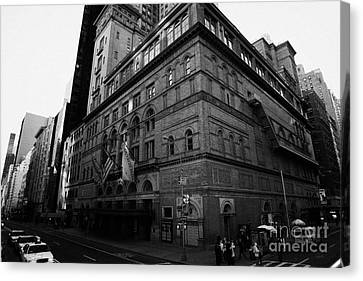 Carnegie Hall On Corner Of West 57th St And 7th Avenue New York City Canvas Print by Joe Fox
