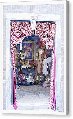 Canvas Print featuring the digital art Carnevale Shop In Venice Italy by Victoria Harrington