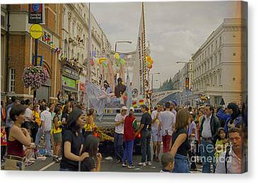 Digital Canvas Print - Carnival Crowds Celebration Social Occasion by Richard Morris