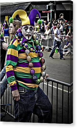 Carnival Jester Canvas Print by Ray Devlin