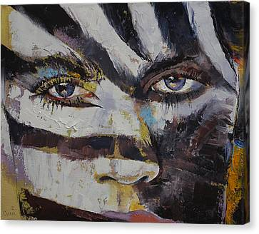 Zebra Canvas Print - Carnival by Michael Creese