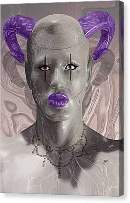 Carnival Of Robotic Dionysus Canvas Print by Quim Abella