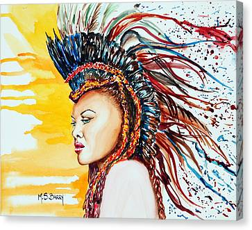 Canvas Print featuring the painting Carnival Queen by Maria Barry
