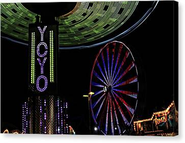 Carnival Rides Canvas Print by Jp Grace