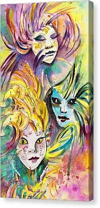 Carnivale In Taormina 01 Canvas Print