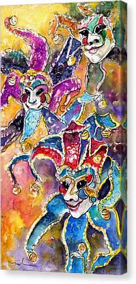 Carnivale In Taormina 02 Canvas Print