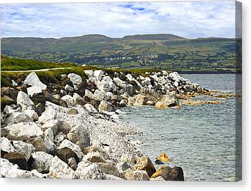 Carnlough Bay Antrim Northern Ireland Canvas Print by Jane McIlroy