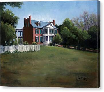 Carnton Plantation Canvas Print - Carnton Plantation In Franklin Tennessee by Janet King