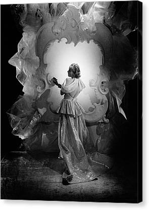 Tulle Canvas Print - Carole Lombard On A Movie Set by George Hoyningen-Huene