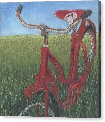 Carole's Bike Canvas Print by Arlene Crafton