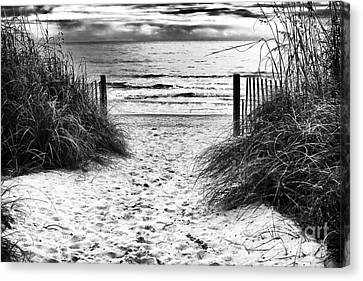 Carolina Beach Entry Canvas Print by John Rizzuto