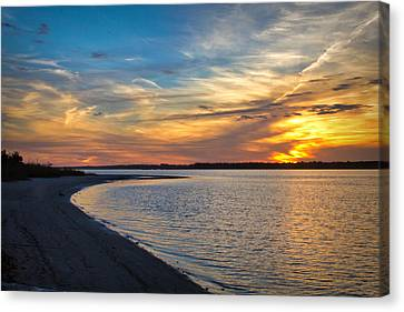 Carolina Beach River Sunset II Canvas Print by Phil Mancuso