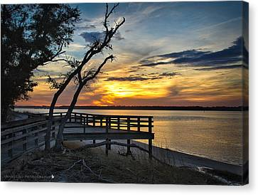 Carolina Beach River Sunset Canvas Print by Phil Mancuso