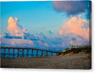 Carolina Blue Over Kure Beach Canvas Print