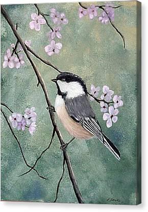 Carolina Chickadee Canvas Print