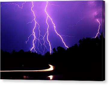 Carolina Electrical Storm Canvas Print by Mike McGlothlen
