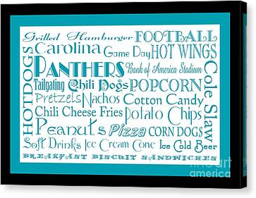 Carolina Panthers Game Day Food 2 Canvas Print