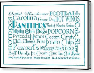Carolina Panthers Game Day Food 3 Canvas Print