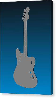 Carolina Panthers Guitar Canvas Print